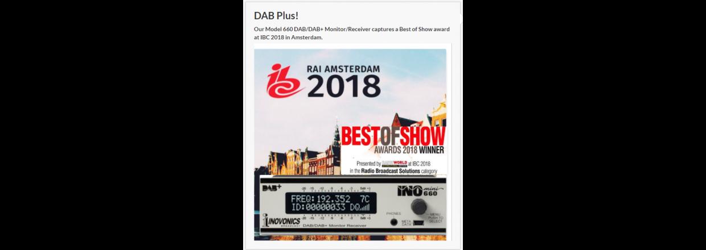 Inovonics at Broadcast Store Europe