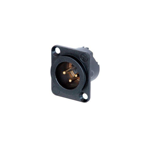 Neutrik NC3MDLX-B 3 pole male receptacle for XLR