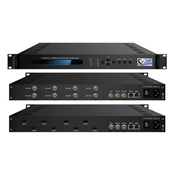 Eurocaster EC3228A 8 in 1 MPEG2/H.264 SD Encoder