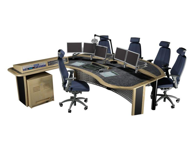 On Air Broadcast Studio Desk Furniture Sample 3