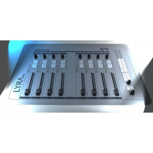 D&R Lyra compact digital broadcast mixer 8 fader