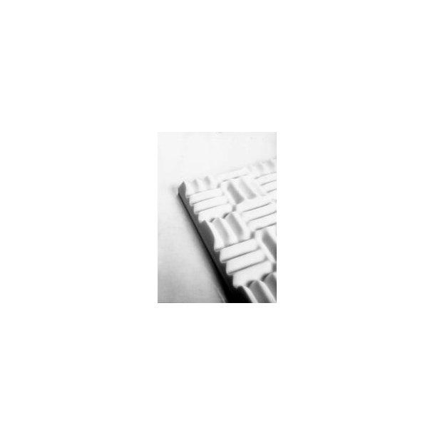 Acoustic foam MP45HVV White 1250 x 625 mm - 45mm