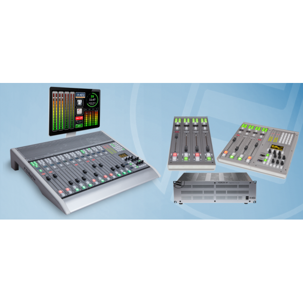 AEQ Forum Digital ON AIR Mixing Console - Medium 8 fader