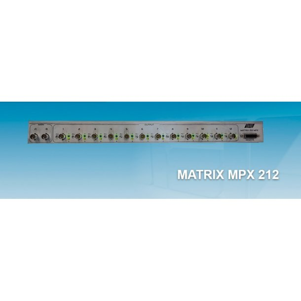 AEV Matrix 212 MPX audio matrix - 2 IN / 12 OUT