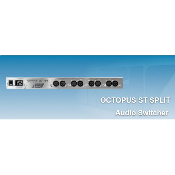 AEV Octopus ST-4 - stereo audio distributor. 1 IN 4 OUT