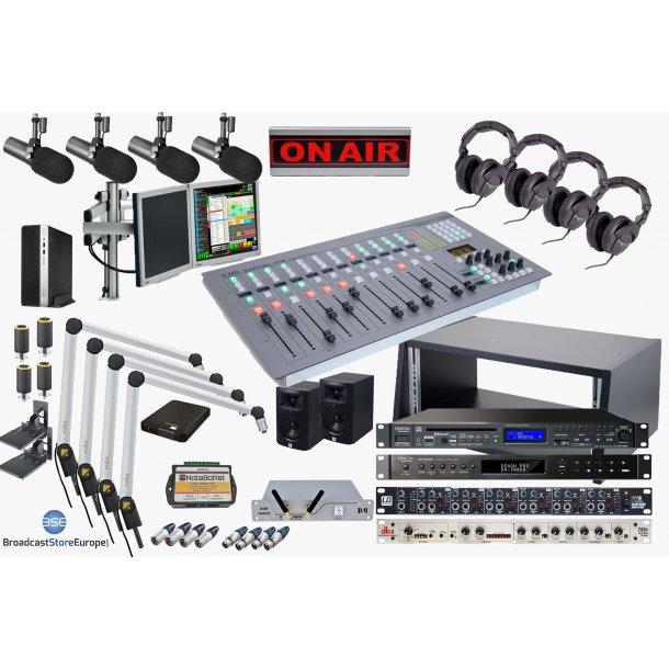 Complete On Air Studio - 12 Fader AEQ Digital Console