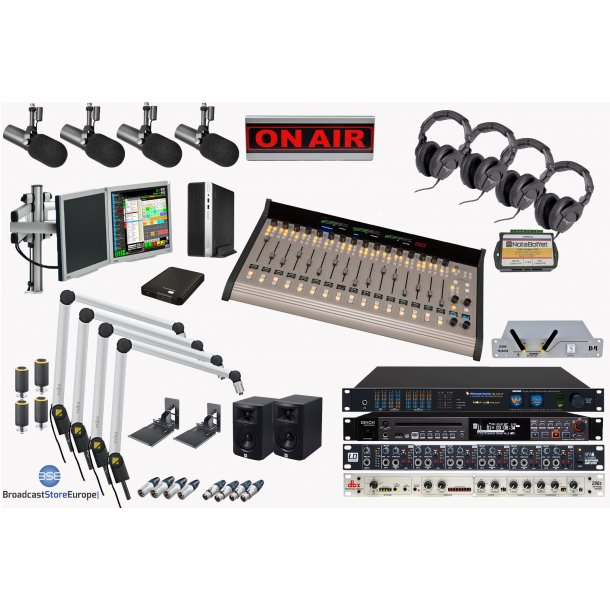Complete On Air Studio - 16 fader Wheatstone  DMX Console