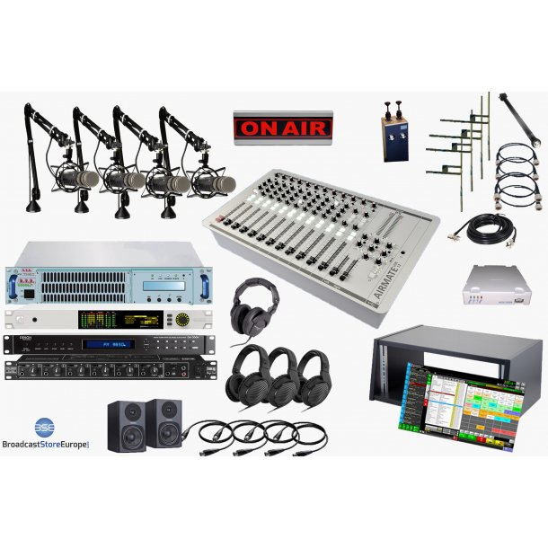 Complete Radio Station 1000W (1kW/4800W ERP)-low cost