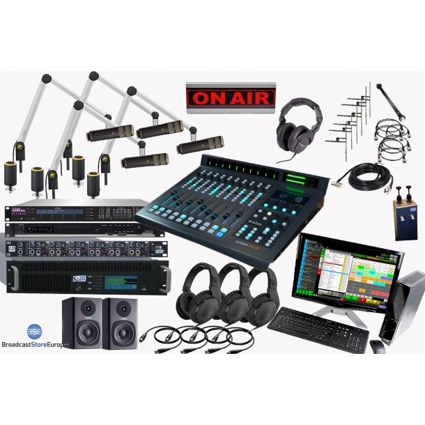 Complete On Air Radio Station 3000W (3kW - 25000ERP)