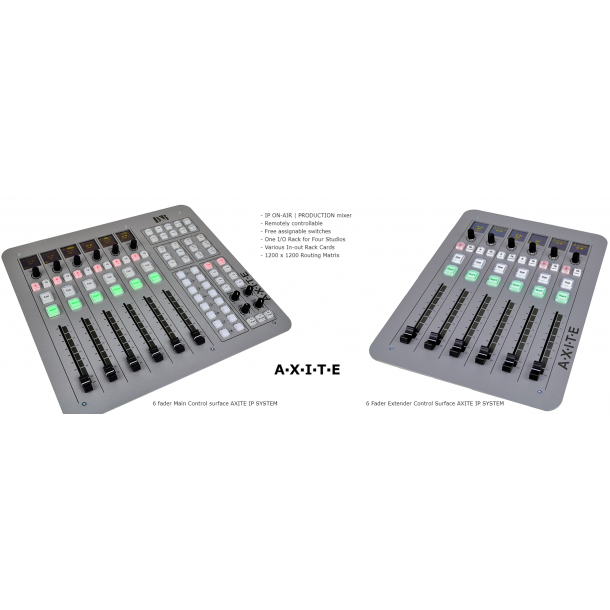D&R Axite IP On Air Production Mixer with 12 faders