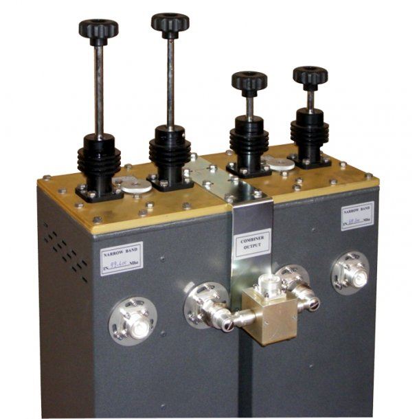 EuroCaster FDB/2000S-H FM Duplexer Starpoint Double Coaxial Filters Combiners 2x1 kW Aluminium