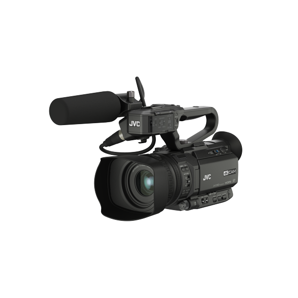 JVC GY-HM250ESB Compact live streaming 4K camcorder with SDI