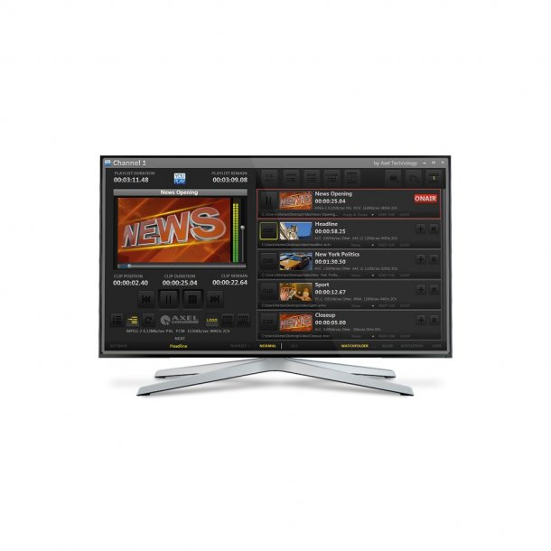 Axel YouPlay BROADCAST TV Player 1 channel HD/SD software license
