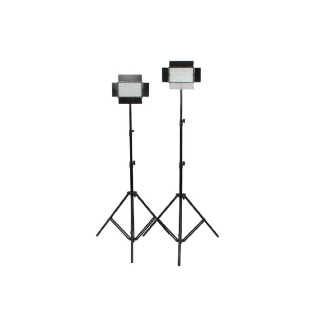 Falcon Eyes LED Lamp Set Dimmable DV-384CT with light stands